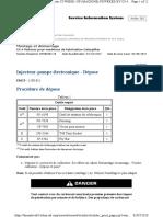 Injecteur-pompe électronique - Dépose