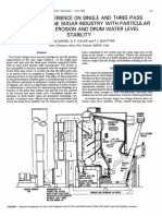 Operating experience on single and three pass boilers
