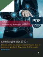 Folder Certificação ISO 27001