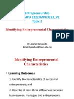 Entrepreneurship Topic 2