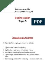 Entrepreneurship Topic 5