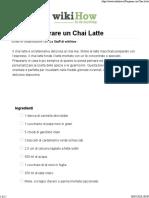 Come Preparare un Chai Latte- 15 Passaggi