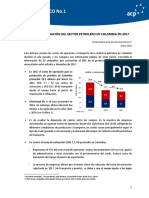 COSTOS DE OPERACIÓN DEL SECTOR PETROLERO EN COLOMBIA EN 2017