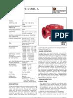 HD 101 Deluge Valve Model A