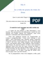 SERMÃO 5 - OLHAR DO PONTO DE VISTA DA ETERNIDADE