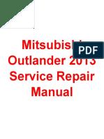 Mitsubishi Outlander 2013 Service Repair Manual.pdf