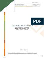 Memoria Descriptiva Planeamiento Integral y Asignacion de Zonificacion