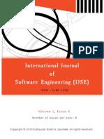 International Journal of Software Engineering (IJSE) Volume (1) Issue (4)