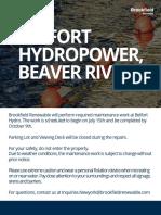 Belfort hydro maintenance work
