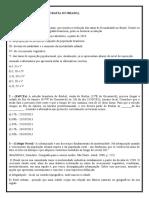 Exercícios extras (Geo. do Brasil) - 2ª