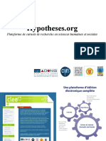Presentation Generale Hypotheses