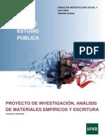 Proyecto de Investigación,Analisis de Materiales Empíricos y Escritura