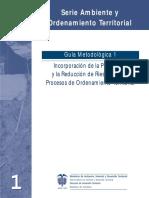 Incorporación de la Prevención y la Reducción de Riesgos en los Procesos de Ordenamiento Territorial