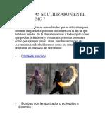 QUE ARMAS SE UTILIZARON EN EL TERRORISMO.docx