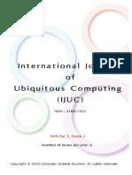 International Journal of Ubiquitous Computing (IJUC) Volume (1), Issue (1)