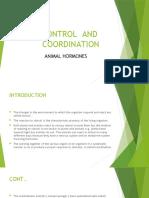 Control and Coordination Animal Hormones