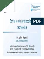 Écriture du protocole de recherche