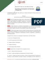 Lei Comp. 400-2018 - Plano Diretor de Palmas