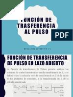 FUNCION DE TRANFERENCIA AL PULSO