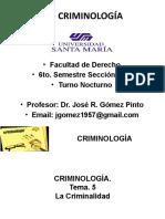 CRIMINOLOGÍA TEMA 5