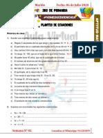 PLANTEO DE ECUACIONES - EJERCICIOS