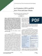 Performance Evaluation of IPv4 and IPv6 on Windows Vista and Linux Ubuntu
