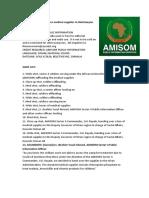 AMISOM Donates Medical Supplies to Beletweyne General Hospital