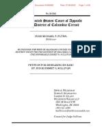 Flynn - Petition for Rehearing En Banc by Judge Emmet G. Sullivan