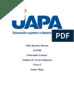 Analisis Hispanos - Tarea I