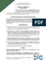 CSJANTA20-72 Por medio del cual se modifica el artículo 3° del Acuerdo CSJANTA20-62 del 30 de junio de 2020