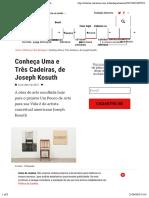 Joseph Kosuth - Uma e Três Cadeiras
