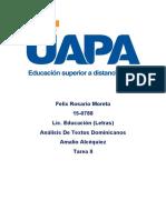 Textos Dominicanos Tarea 2