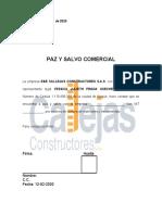 PAZ Y SALVO LABORAL COMERCIAL
