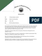 Speaker Householder Work From Home 7-9-20
