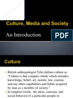 Culture, Media and Society