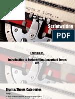 Scriptwriting Lecture 02