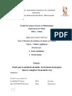 étude théorique fomamide eau ab initio gaussian