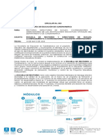 CIRCULAR N ° 43 ESCUELA DE RECTORES SECRETARIA DE EDUCACION