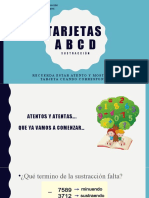 tarjetas ABCD sustracción