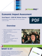 2020 BC Winter Games - Economic Impact Detailed Report