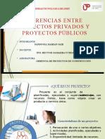 Diferencias entre Proyectos Privados y Proyectos Públicos