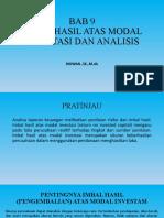 BAB 9 - Imbal Hasil Atas Modal Investasi Dan Analisis Probitabilitas