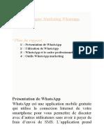 Campagne Marketing Whatsapp