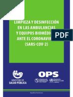PROTOCOLO LIMPIEZA Y DESINFECCION AMBULANCIA.pdf