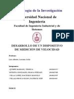 INFORME DE METODOLOGÍA (velocidad)