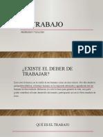 EL TRABAJO Y LA ECONOMIA EN LA DSI