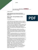 Folha de S.Paulo - Para CET, ruas próximas serão afetadas - 14_06_2003