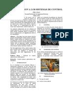 INTRODUCCION A LOS SISTEMAS DE CONTROL - Valverde Otega Raul