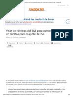 Visor de nóminas del SAT para patrones y amarre de sueldos para el ajuste de ISR - ContadorMx.pdf