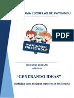 Concurso Generando Ideas Bases Paysandú